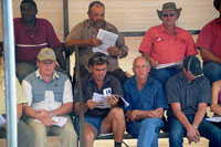 Buyers and guests at 2010 Hartebeestloop Auction.