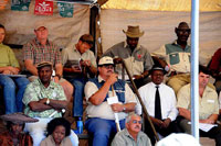 Namibian guests at auction.
