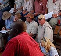 Visitors at farmers Day.