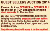 2014 Hartebeestloop Auction Guest Sellers<br>Go to DETAILS/DETAILS ALL for more information