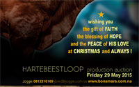 Hartebeestloop Auction 2015, with Christmas wishes